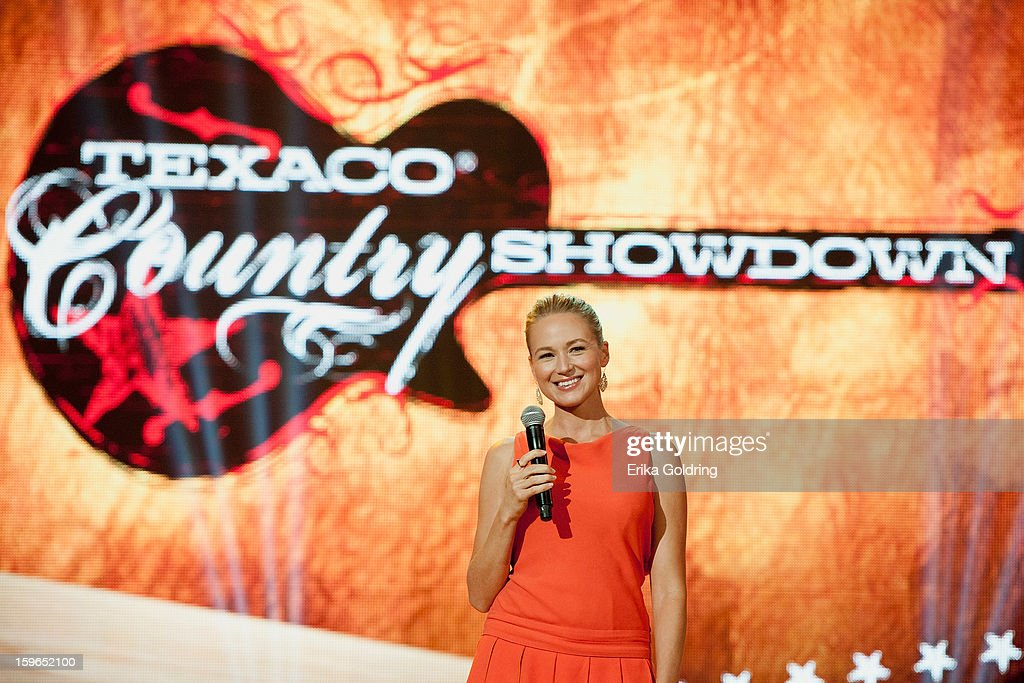 American singer-songwriter Jewel hosts the 31st annual Texaco Country Showdown fational final at the Ryman Auditorium on January 17, 2013 in Nashville, Tennessee.