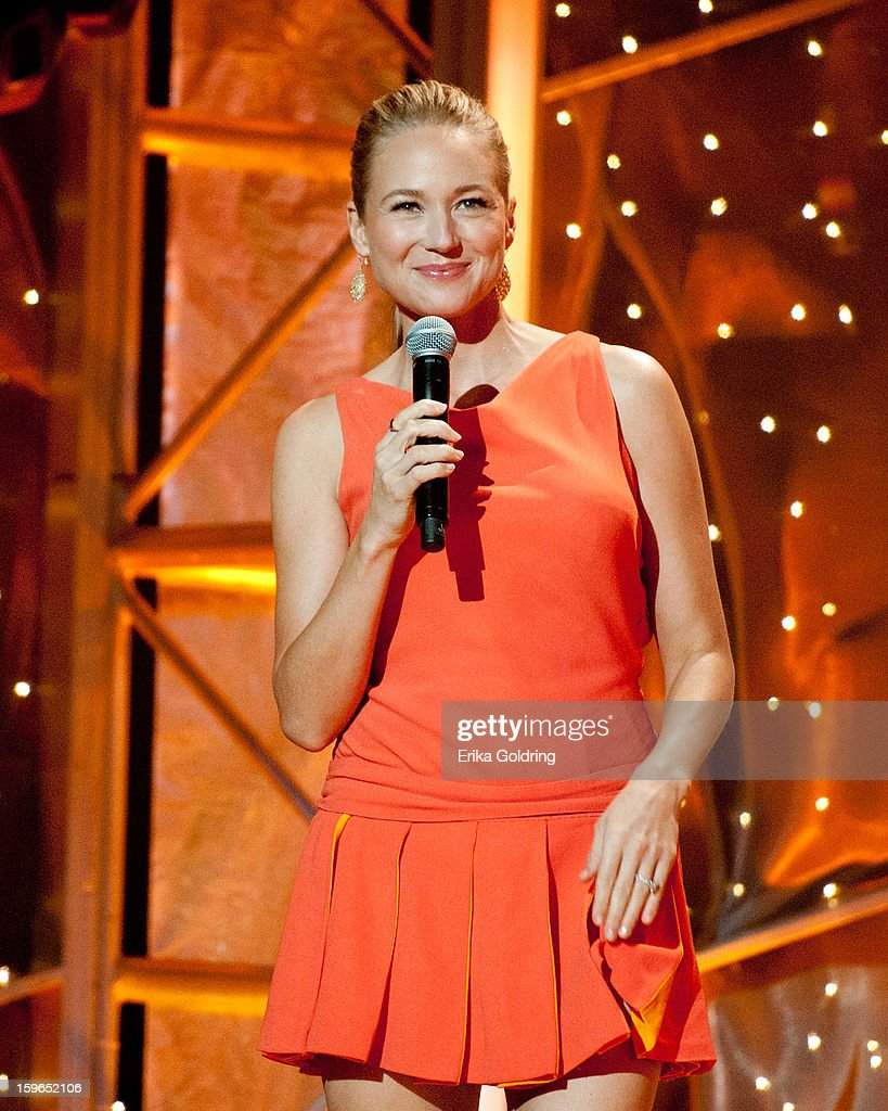 American singersongwriter Jewel hosts the 31st annual Texaco Country Showdown fational final at the Ryman Auditorium on January 17 2013 in Nashville...