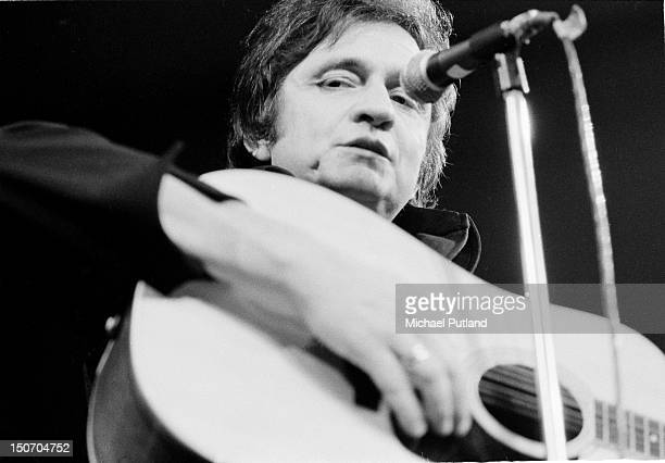 American singersongwriter Johnny Cash performs at the Royal Albert Hall London September 1972