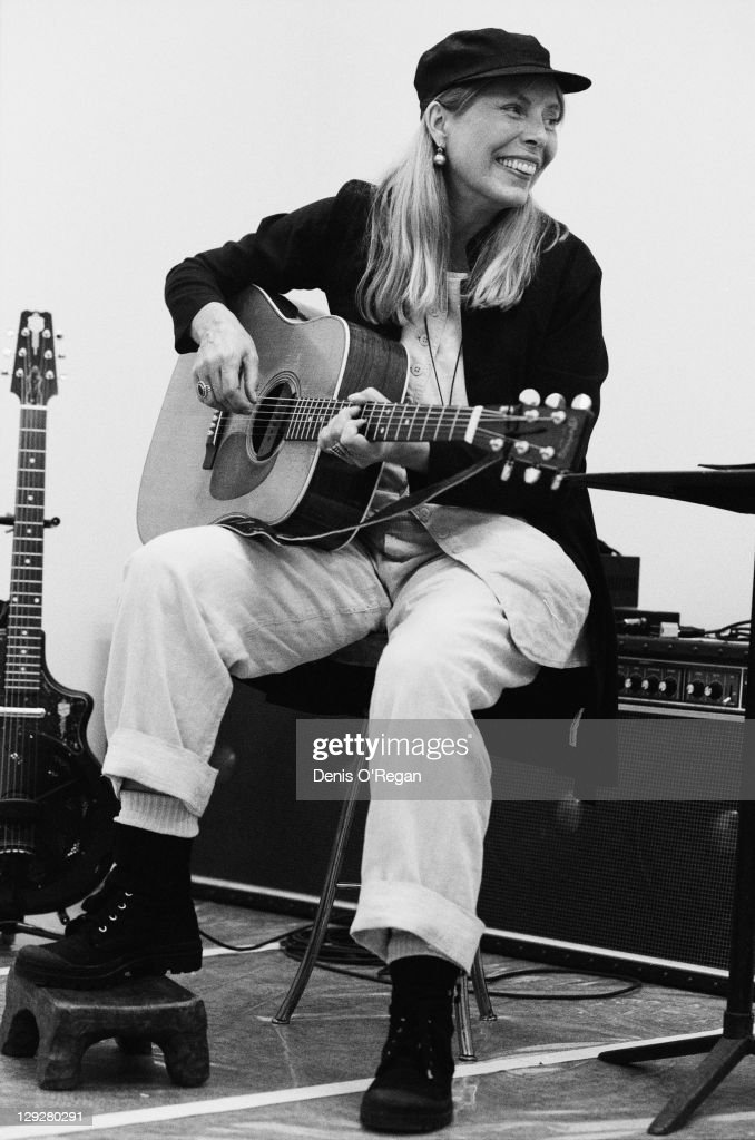 American singer-songwriter Joni Mitchell, circa 1995.
