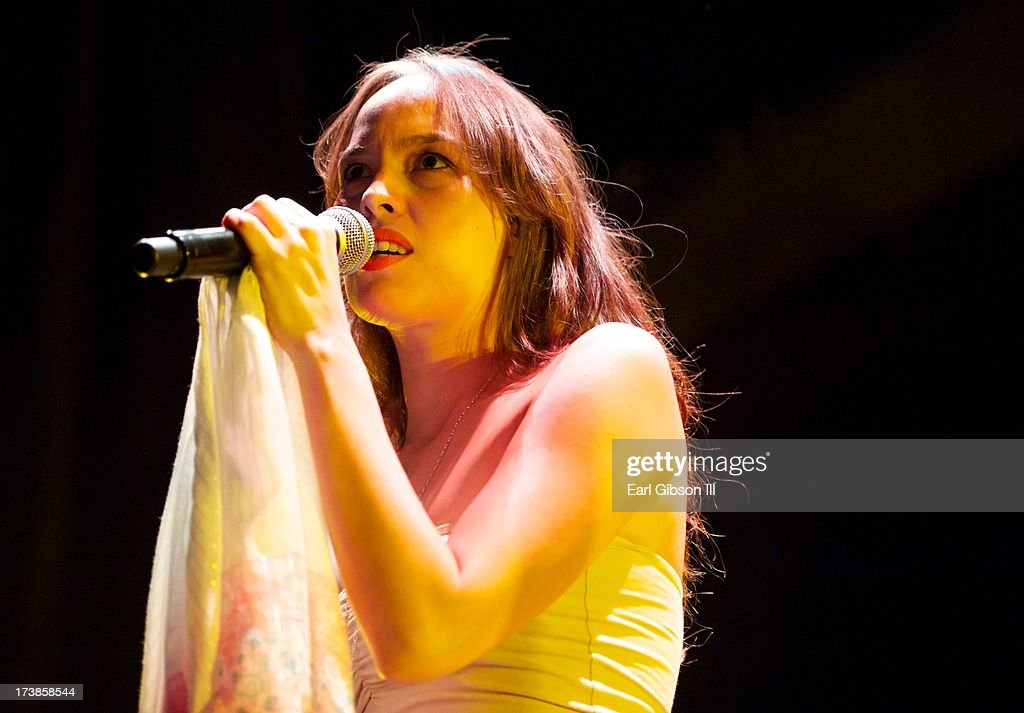 American Singer/Songwriter Kate Earl performs at the Gibson Amphitheatre on July 17, 2013 in Universal City, California.