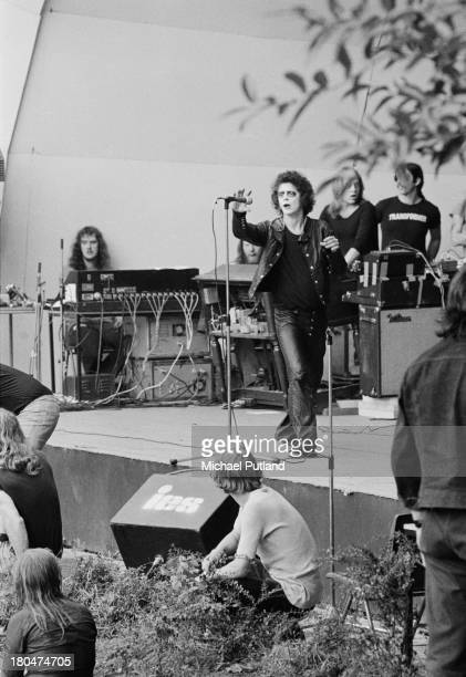 American singersongwriter Lou Reed performing at the Crystal Palace Garden Party festival at the Crystal Palace Bowl London 15th September 1973