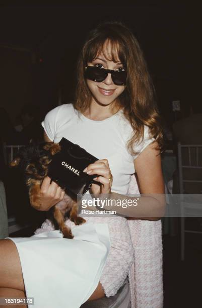 American singersongwriter Mariah Carey attends a Chanel fashion show benefit to raise funds for the New York Hospital New York City 1994