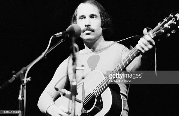 American singersongwriter Paul Simon performing at the Palladium Theatre London December 1975