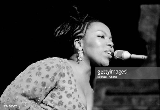American singersongwriter Roberta Flack performs on stage at Ronnie Scott's London 1972