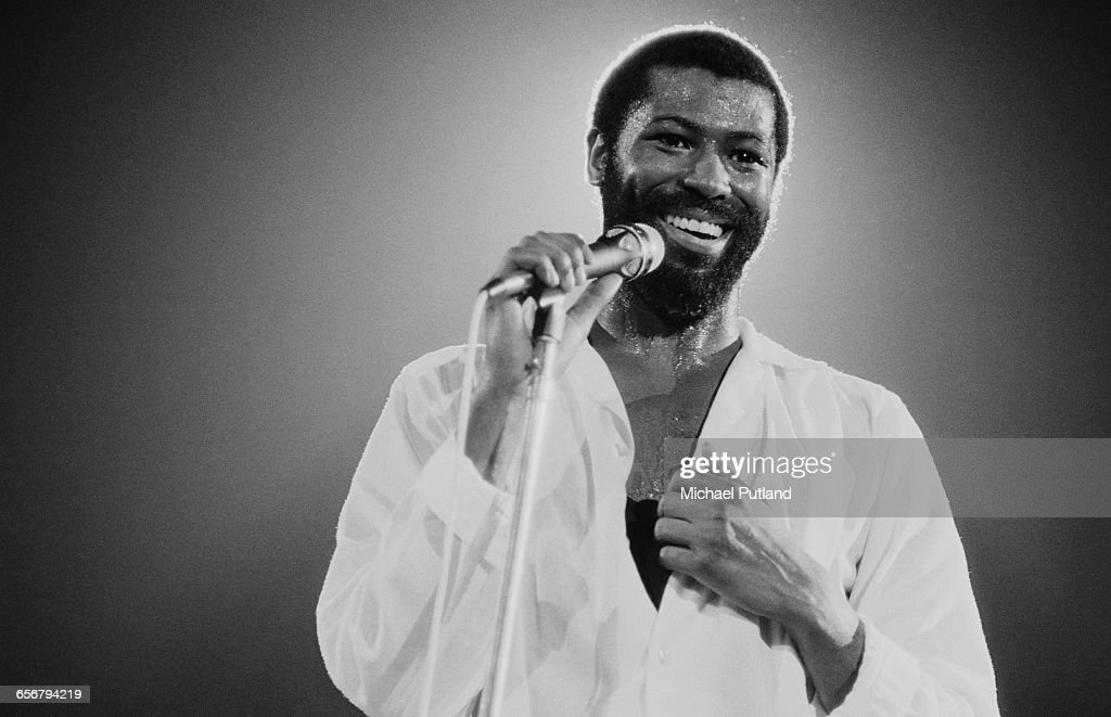 American singer–songwriter Teddy Pendergrass (1950 - 2010) performing in New York, 1981.