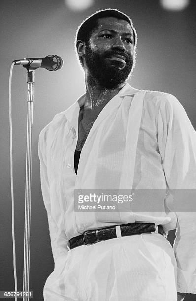 American singer–songwriter Teddy Pendergrass performing in New York 1981