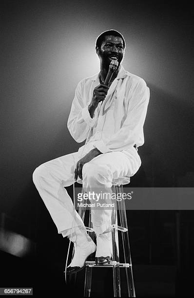 American singer–songwriter Teddy Pendergrass performing in New York 1981