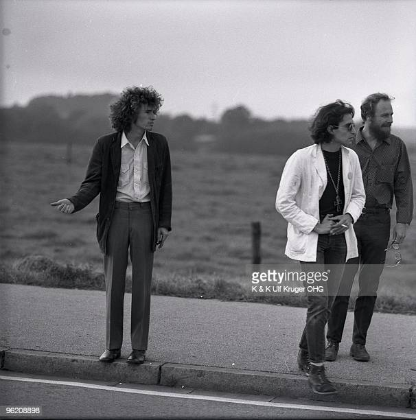 American singersongwriter Tim Buckley hitchhikes by the side of the road with David Peel and Lee Underwood in September 1968 in Germany