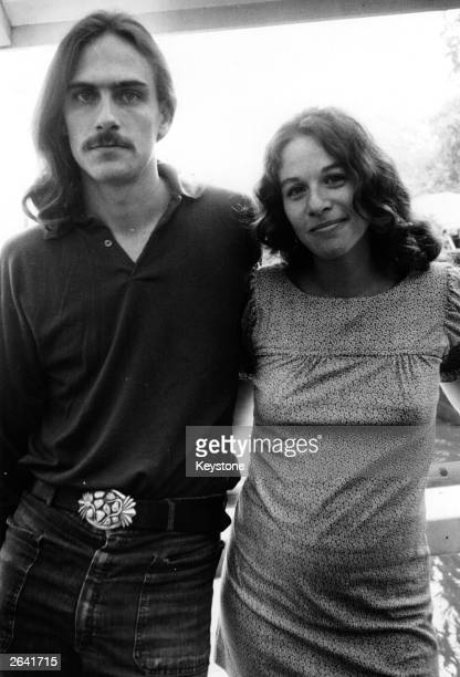 American singersongwriters James Taylor and Carole King