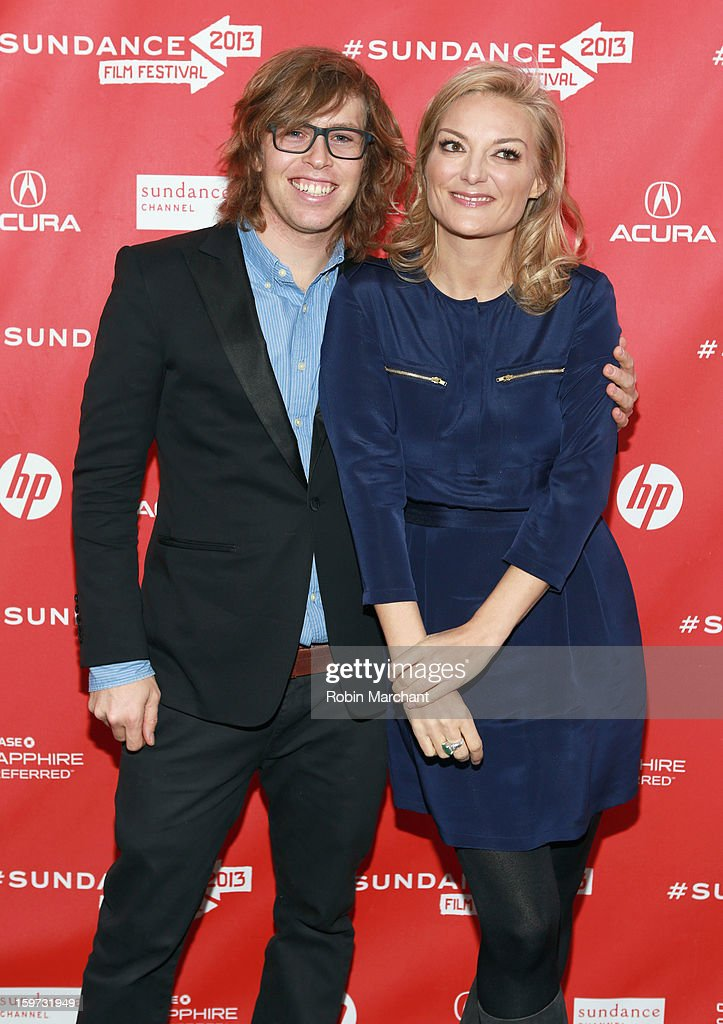 American snowboarder Kevin Pearce and director Lucy Walker attend 'The Crash Reel' premiere at The Marc Theatre during the 2013 Sundance Film Festival on January 19, 2013 in Park City, Utah.