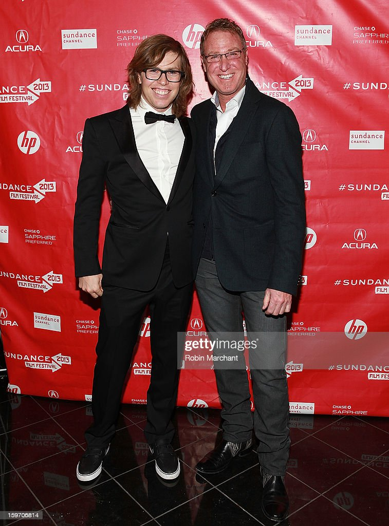 American snowboarder Kevin Pearce (L) and Dr. Alan Weintraub attend 'The Crash Reel' Premiere at Rose Wagner Performing Arts Center on January 18, 2013 in Salt Lake City, Utah.