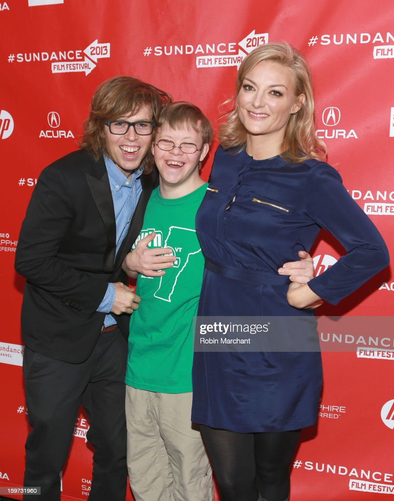 American snowboarder <a gi-track='captionPersonalityLinkClicked' href=/galleries/search?phrase=Kevin+Pearce&family=editorial&specificpeople=3107126 ng-click='$event.stopPropagation()'>Kevin Pearce</a>, brother <a gi-track='captionPersonalityLinkClicked' href=/galleries/search?phrase=David+Pearce&family=editorial&specificpeople=4542211 ng-click='$event.stopPropagation()'>David Pearce</a> and director <a gi-track='captionPersonalityLinkClicked' href=/galleries/search?phrase=Lucy+Walker&family=editorial&specificpeople=3079373 ng-click='$event.stopPropagation()'>Lucy Walker</a> attend 'The Crash Reel' premiere at The Marc Theatre during the 2013 Sundance Film Festival on January 19, 2013 in Park City, Utah.