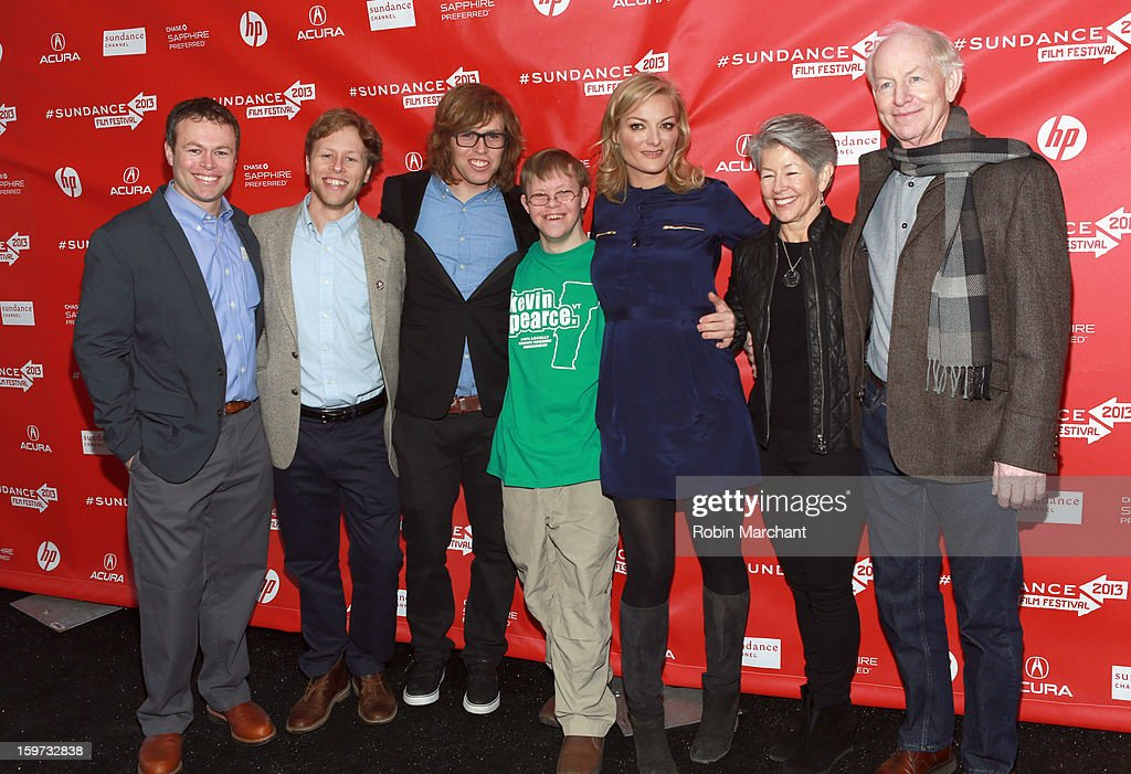 American snowboarder Kevin Pearce brother David Pearce director Lucy Walker and the Pearce family attend 'The Crash Reel' premiere at The Marc...