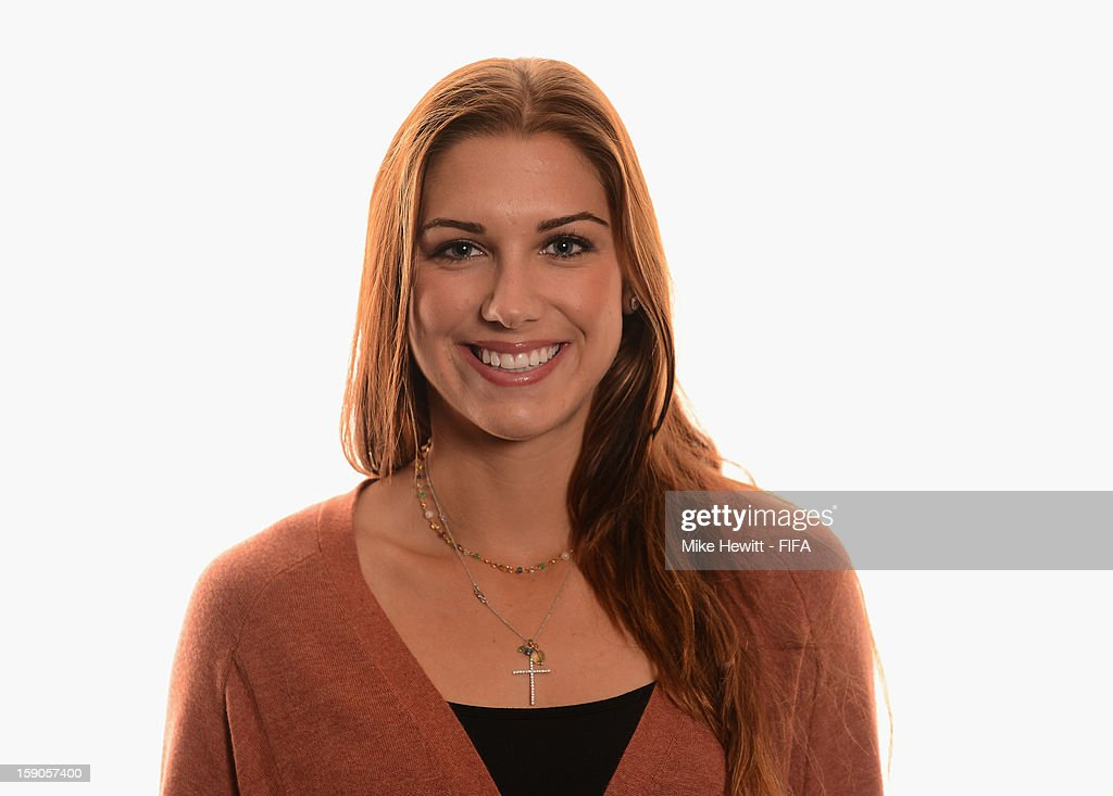 American soccer player and Olympic gold medalist Alex Morgan poses for a portrait prior to the FIFA Ballon d'Or Gala 2012 at the Kongresshaus on January 7, 2013 in Zurich, Switzerland.