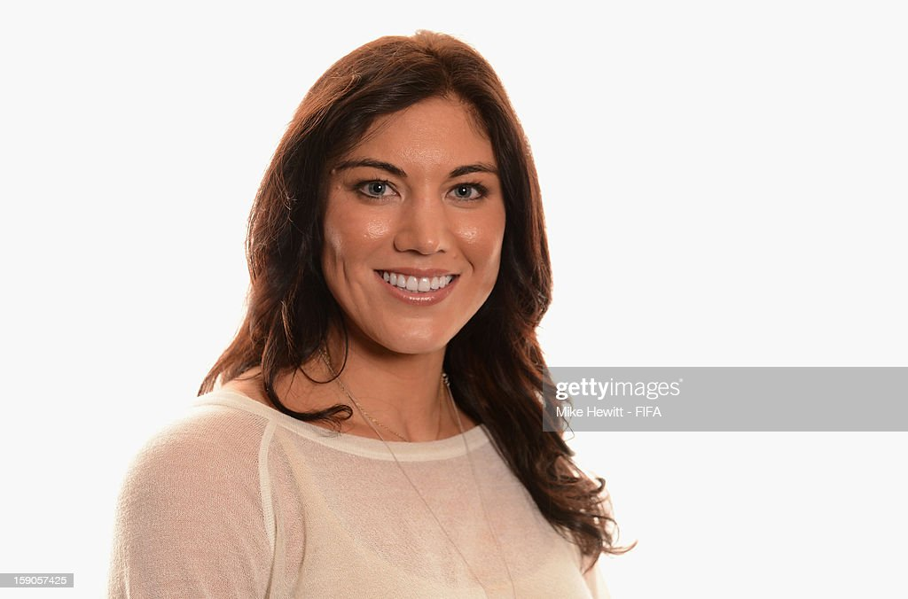 American soccer player and Olympic gold medalist Hope Solo poses for a portrait prior to the FIFA Ballon d'Or Gala 2012 at the Kongresshaus on January 7, 2013 in Zurich, Switzerland.