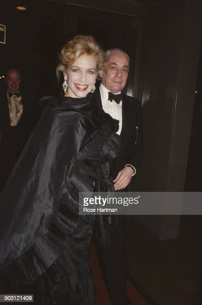 American socialite and philanthropist Lynn Wyatt and American costume jewellery designer Kenneth Jay Lane attend the Met Gala at the Metropolitan...