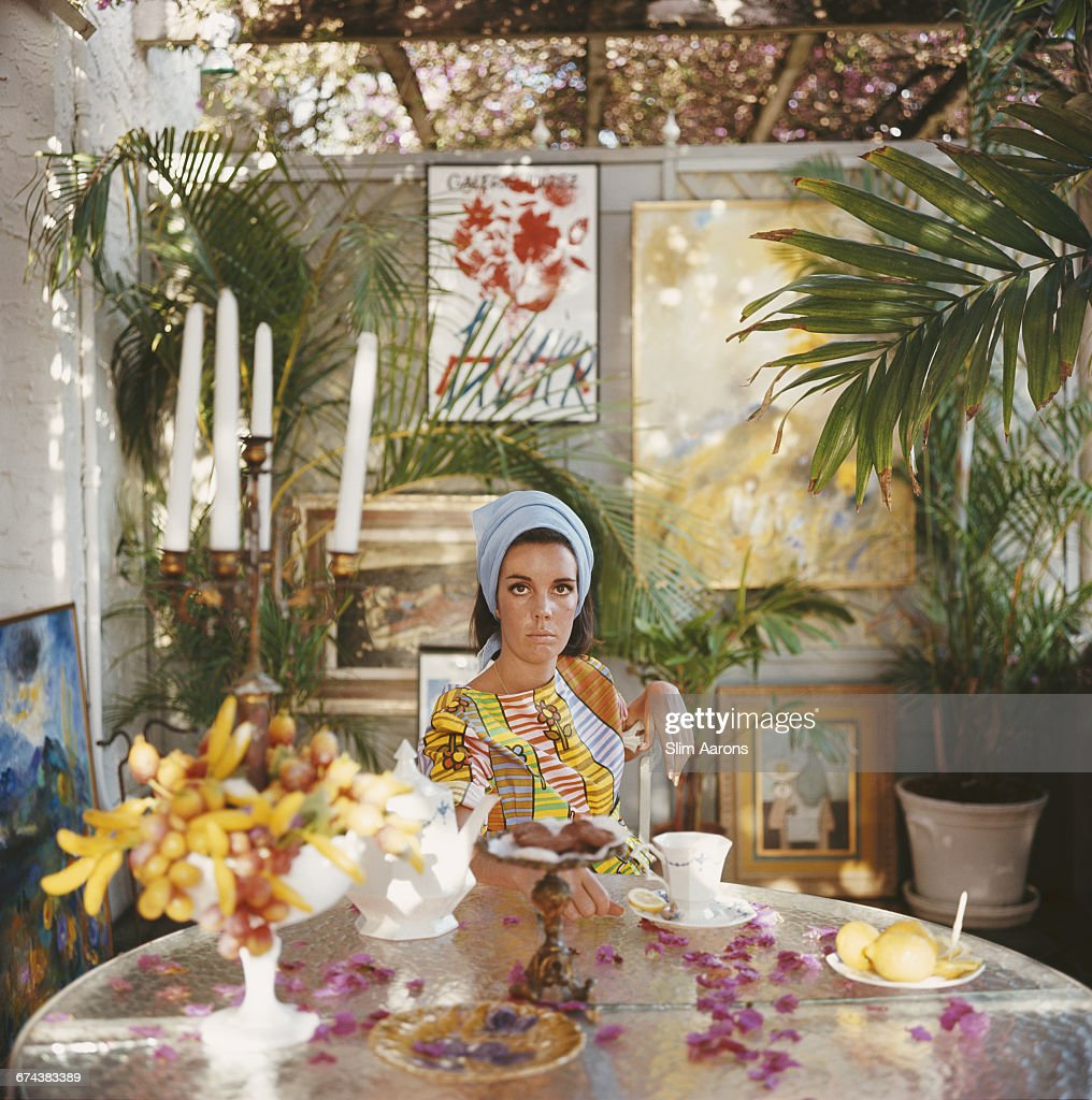 American socialite Wendy Vanderbilt at home in Palm Beach Florida USA 1964