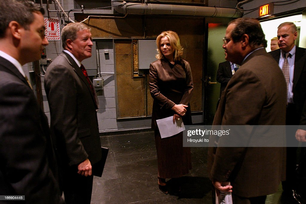 American Society for Arts event at the Juilliard School on Thursday September 22 2005This imageJoseph Polisi Renee Fleming and Antonin Scalia