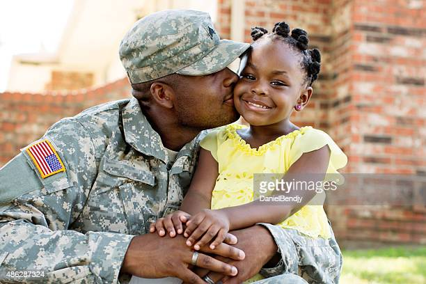 American Soldier and Daughter
