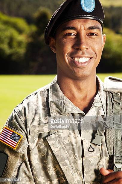 American Soldier With Beret