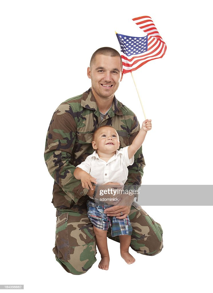 soldier holding baby essay