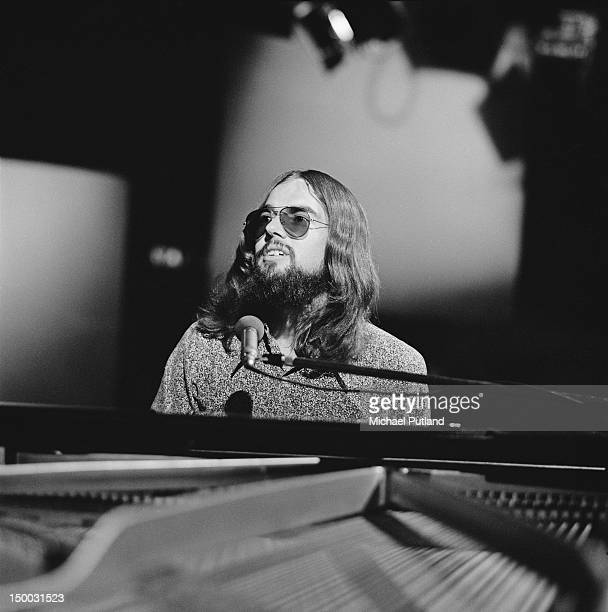 American songwriter Jimmy Webb performing on the BBC TV show 'The Old Grey Whistle Test' London 28th June 1971