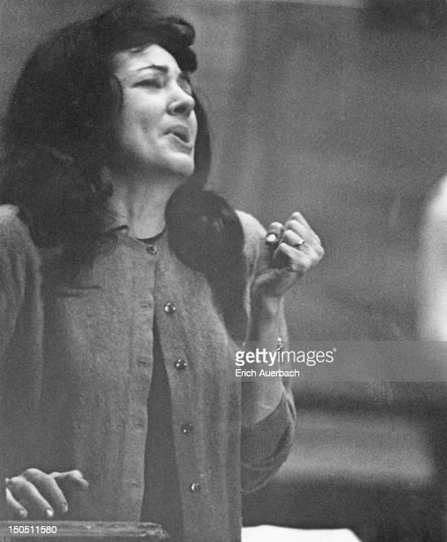 American soprano Anna Moffo rehearsing the part of Gilda in Franco Zeffirelli's production of Verdi's Rigoletto at Covent Garden London 30th January...
