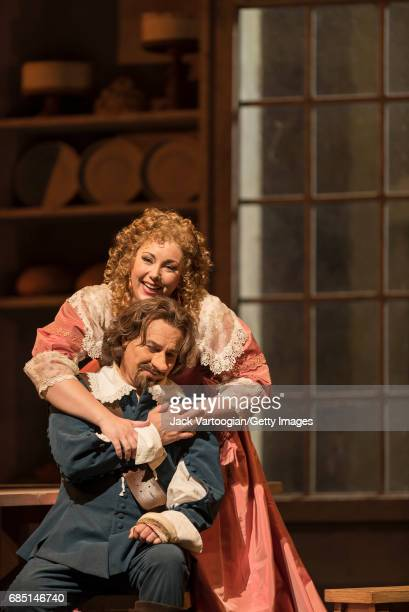 American soprano Jennifer Rowley and French tenor Roberto Alagna perform at the final dress rehearsal prior to the season premiere of the...