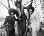 American soul group the ChiLites whose big hits include ' Give More Power To The People' and the two million seller 'Have You Seen Her' in London to...