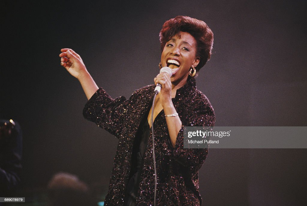 American soul jazz and gospel singer Oletta Adams performing at the Prince's Trust Rock Gala at the Royal Albert Hall, London, 18th July 1990.