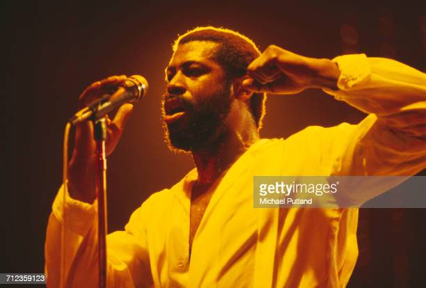 American soul singer Teddy Pendergrass performs live on stage in New York United States in April 1981