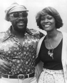 American soul singers Isaac Hayes and Dionne Warwick circa 1975