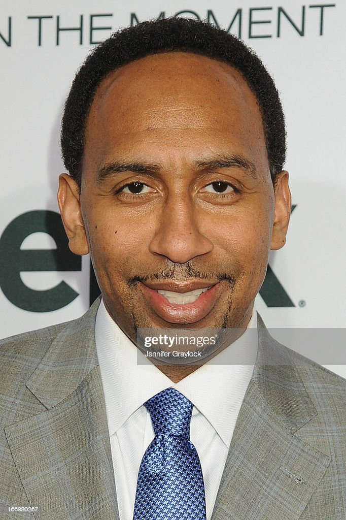 American sports journalist Stephen A. Smith attends EPIX premiere of Amar'e Stoudemire IN THE MOMENT on April 18, 2013 in New York City.
