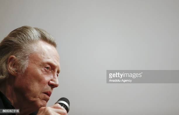 American stage and film lead and character actor Christopher Walken answers the questions of movie fans during a gathering organized within 54th...