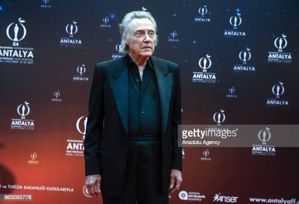 American stage and film lead and character actor Christopher Walken poses for a photo after a question answer event with movie fans during a...