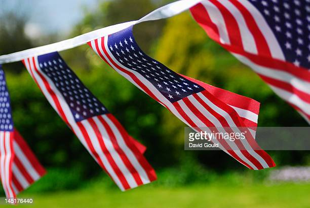 American stars and stripes flag bunting