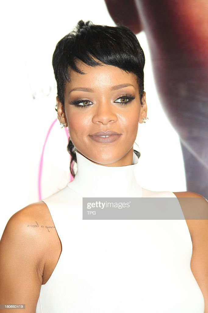 American super star <a gi-track='captionPersonalityLinkClicked' href=/galleries/search?phrase=Rihanna&family=editorial&specificpeople=453439 ng-click='$event.stopPropagation()'>Rihanna</a> attends commercial activity on Sunday September 15,2013 in Hong Kong,China.