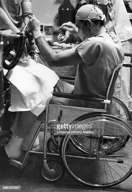 American surgeon Henry Swan II Henry Swan performing surgery from a wheelchair 1960 Swan pioneered the use of hypothermia to permit the first...