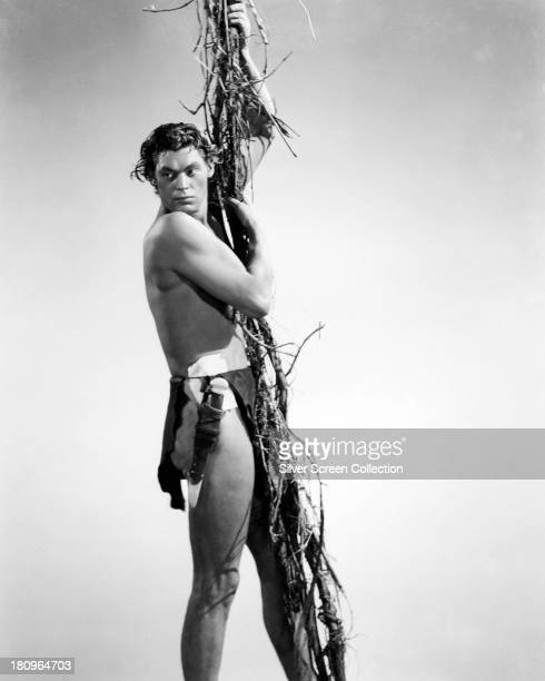 American swimmer and actor Johnny Weissmuller as Tarzan circa 1940