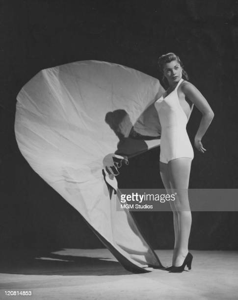 American swimmer and actress Esther Williams in a publicity still for 'Fiesta' directed by Richard Thorpe 1947 In the film Williams plays aspiring...