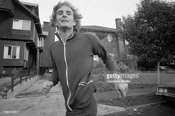 American teacher Steven Weed jogs along a street Berkley California 1976 Weed was the former fiance of heiress Patty Hearst then on trial