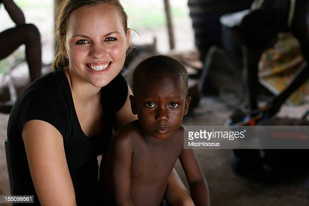 American Teen with African Boy