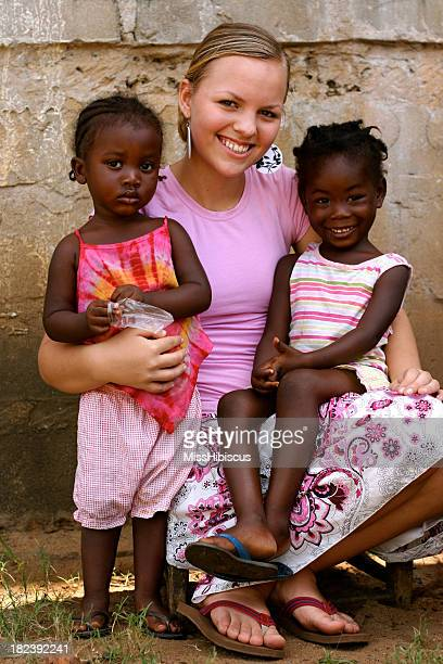 American Teen With African Girls