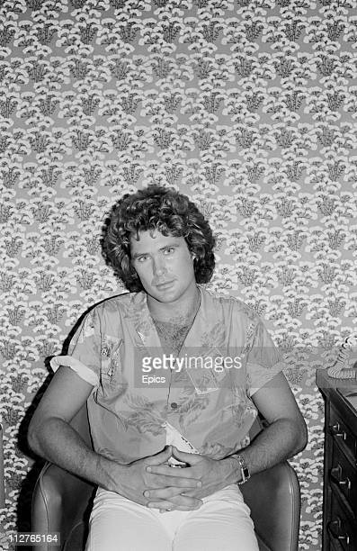 American television actor David Hasselhoff poses for the camera in New York 1981 Hasselhoff is well known for his acting roles in 'Baywatch' and 80's...