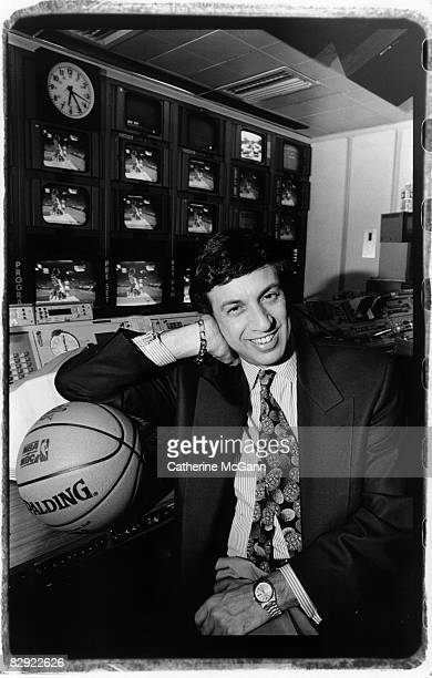 American television and radio sportscaster Marv Albert commonly known as 'the voice of basketball' and 'the voice of the New York Knicks' poses for a...