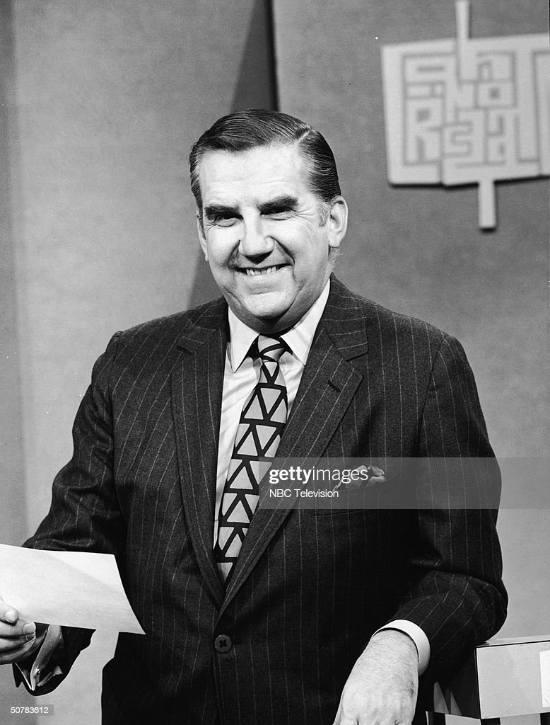 American television announcer <a gi-track='captionPersonalityLinkClicked' href=/galleries/search?phrase=Ed+McMahon&family=editorial&specificpeople=216392 ng-click='$event.stopPropagation()'>Ed McMahon</a> smiles as the host on the set of the TV game show, 'Concentration,' 1969.