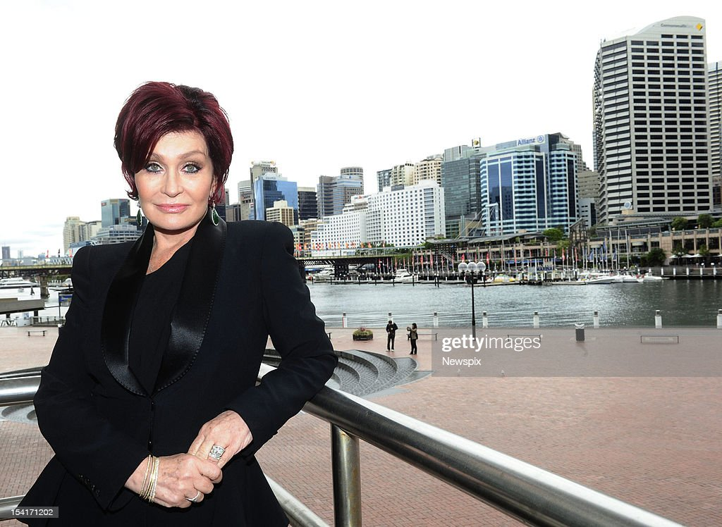 American television personality <a gi-track='captionPersonalityLinkClicked' href=/galleries/search?phrase=Sharon+Osbourne&family=editorial&specificpeople=203094 ng-click='$event.stopPropagation()'>Sharon Osbourne</a>, who is in Australia to co-host the Australian Commercial Radio Awards, poses after making an appearance at the National Radio Conference 2012 at the Convention Centre at Darling Harbour, on October 12, 2012 in Sydney, Australia.