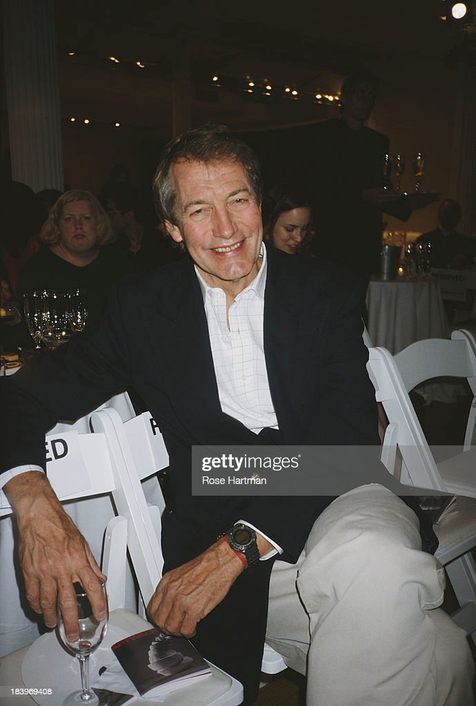 American television talk show host and journalist <a gi-track='captionPersonalityLinkClicked' href=/galleries/search?phrase=Charlie+Rose&family=editorial&specificpeople=535420 ng-click='$event.stopPropagation()'>Charlie Rose</a> at 'Art Walk', New York City, 2001.