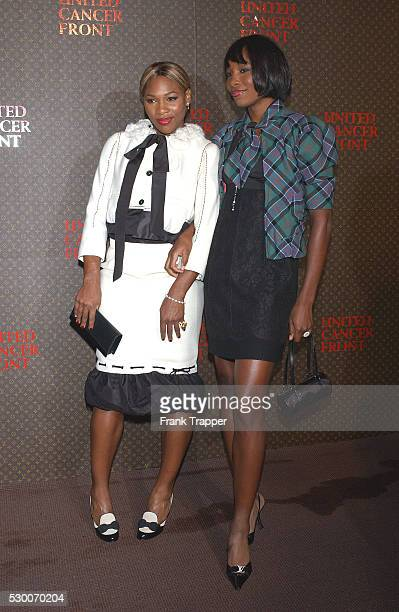 American tennis champions Serena and Venus Williams arrive at the Louis Vuitton United Cancer Front Gala held at Universal Studios